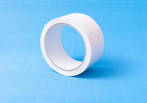Taśma pakowa PP biała - klej akrylowy