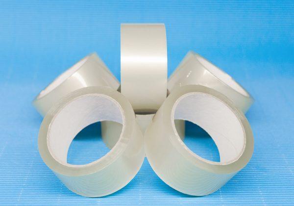 Taśmy pakowe PP (polipropylen) na kleju solvent - bezbarwne (transparent)