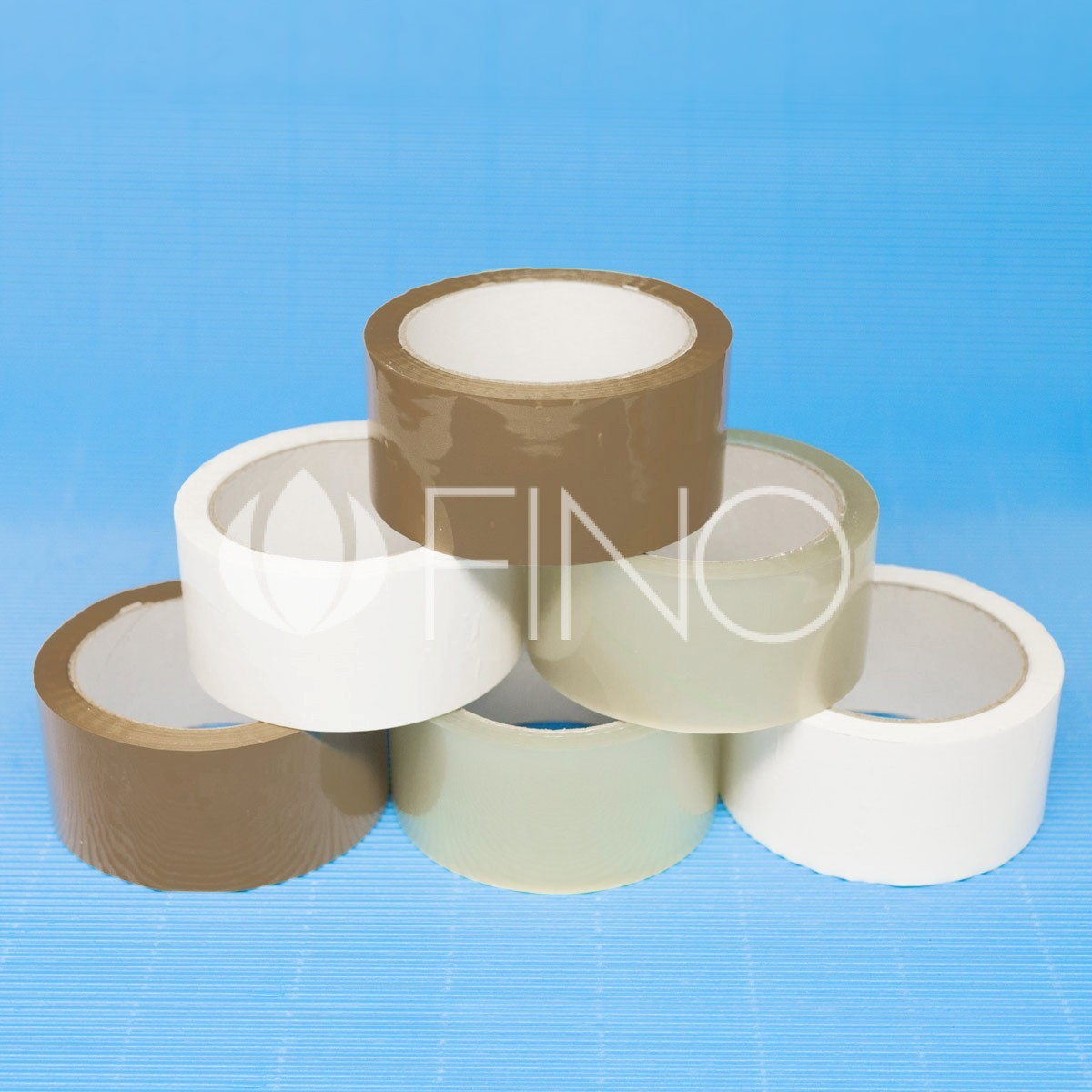 Packaging tapes on acrylic adhesive