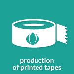 icon production of printed tapes